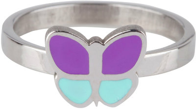 KR79 Butterfly Purple Blue Shiny Steel