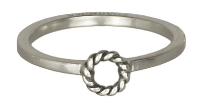Ring R230 Silver 'Open Twist'