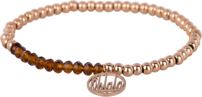 OHB40 Ohlala! Bracelet 4mm Rose Gold and brown crystal