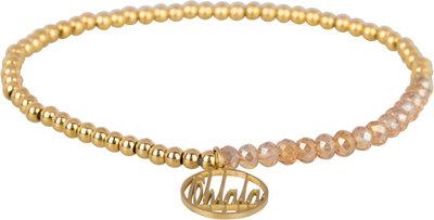 OHB24 Ohlala! Bracelet 3mm Gold and champ crystal