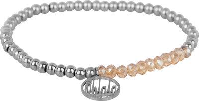 OHB35 Ohlala! Bracelet 4mm Shiny Steel and champ crystal