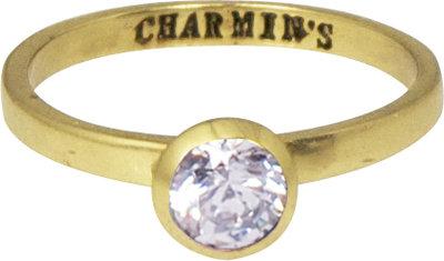 Ring KR49 'Round Diamond' Gold