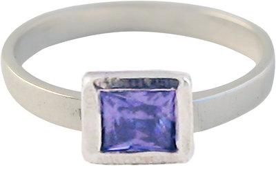 KR26-Kidz-Kinderring-Zilver-Cubic Diamond Purple-Paars