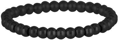 Ring R474 Black 'Stretch Shiny Steel Small'