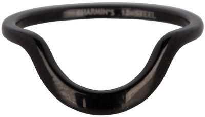R555 Half Moon Plain Black Steel