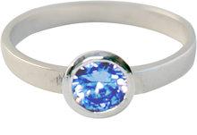 KR04-Kidz-Kinderring-Zilver-Round Diamond Baby Blue